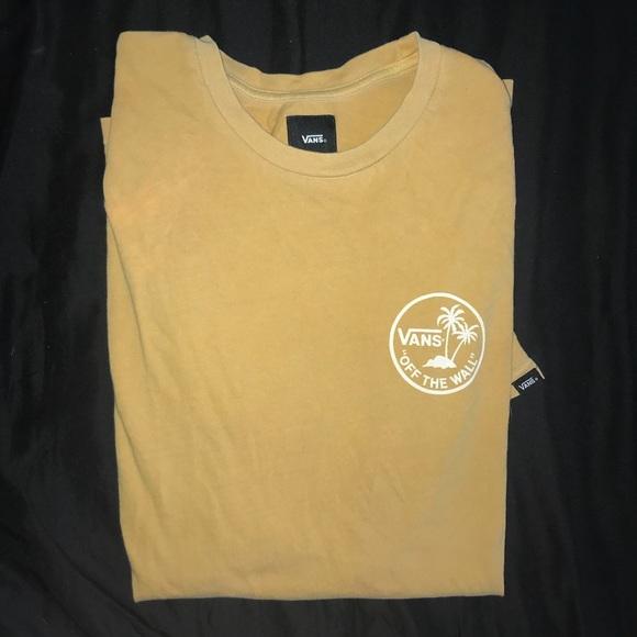 550bdc93ae Vans Yellow Palm Tree Logo Tee Shirt. M 5bb7fc59194dad5e29a1c6dd
